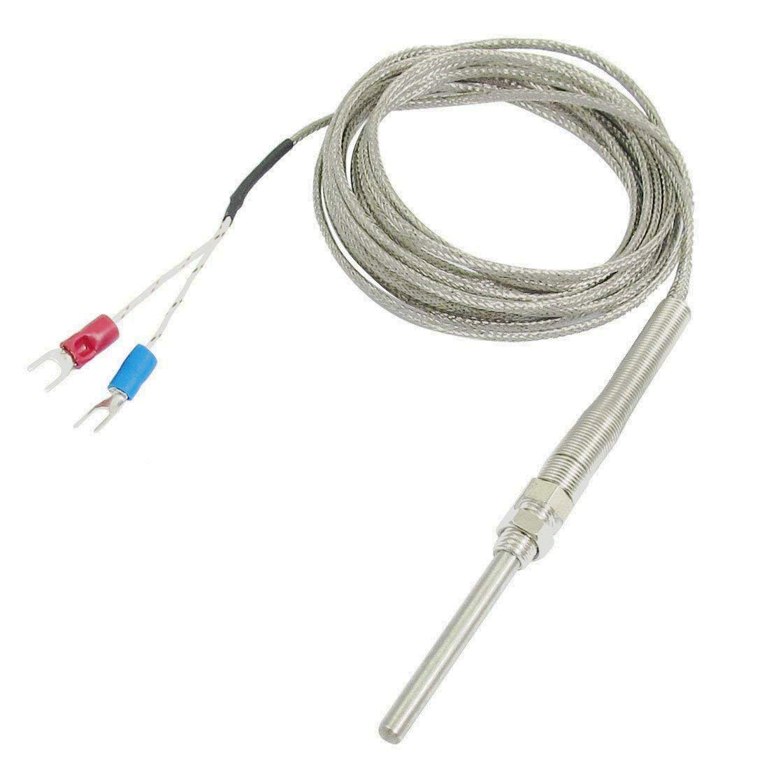 Aodesy 5M//16.4ft Long K Type 500C 50mm//1.97 Probe Thermocouple Temperature Controller Sensor Cable 5M x 50mm