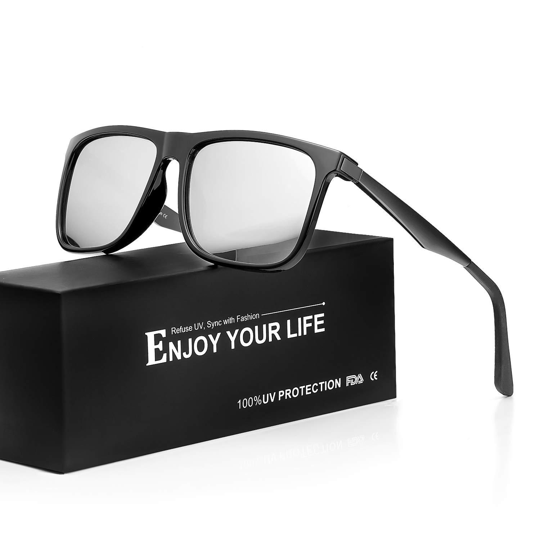 bd836eecc6fa Mens Sunglasses Polarized Lens for Driving 100% UVA UVB Protection