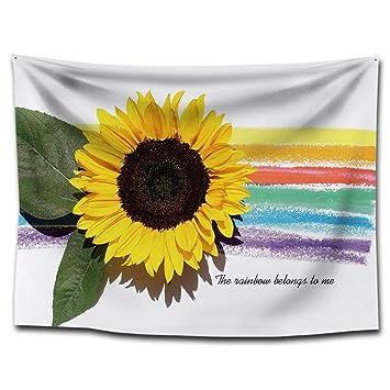 FORTR Home Girasol Estampado de Tela Manta Toalla de Playa Pinturas para el hogar Fondo Paño Decoración Mantel (Color : G0150 (3), Size : 150 * 200CM): ...