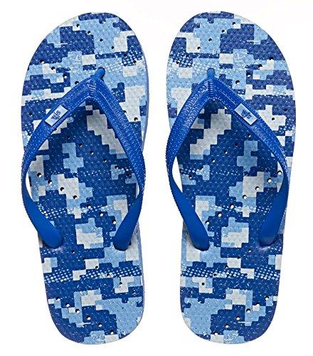 Showaflops Mens Doccia Antimicrobica E Sandali Per Lacqua Per Piscina, Spiaggia, Dormitorio E Palestra - Camouflage Group Digital Blue Camo