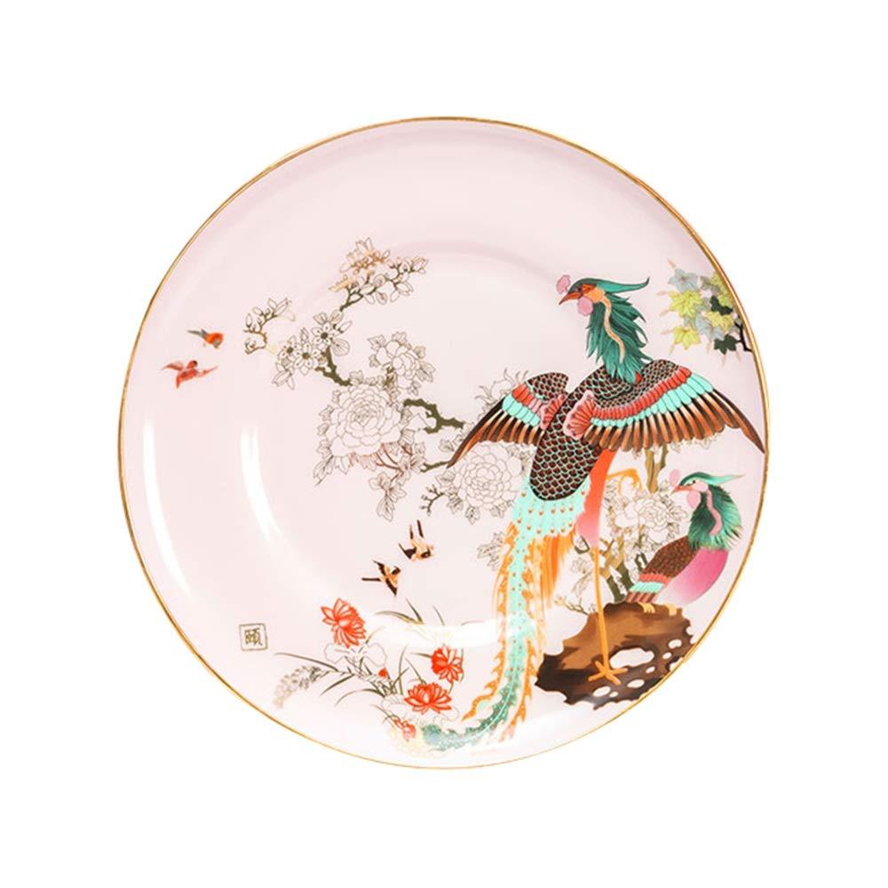 Plate Steak Dish Dish Home Dish Plate Dish Western Dish Ceramic (color : White)
