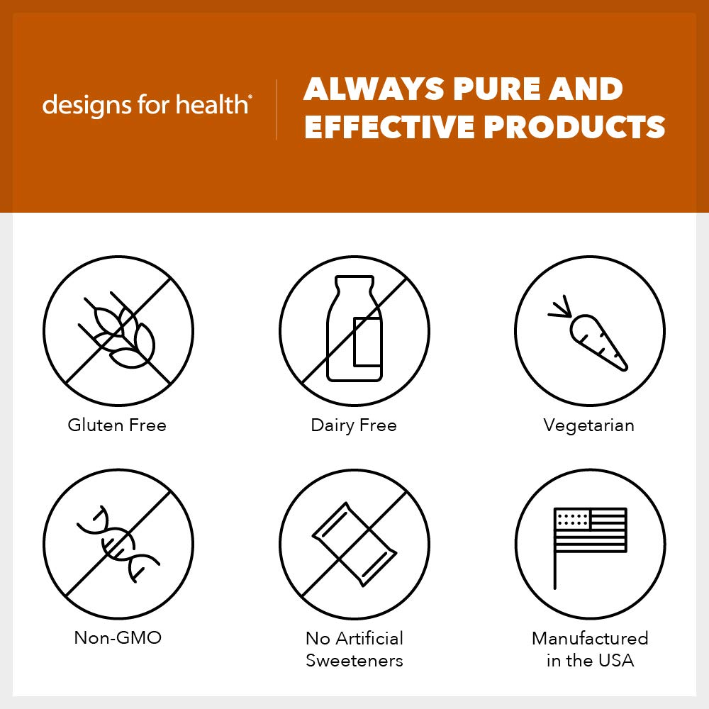 Designs for Health Quercetin-Ascorbate Powder - 500mg Quercetin + Vitamin C for Histamine Balance Support (100g / 100 Servings) by designs for health (Image #3)
