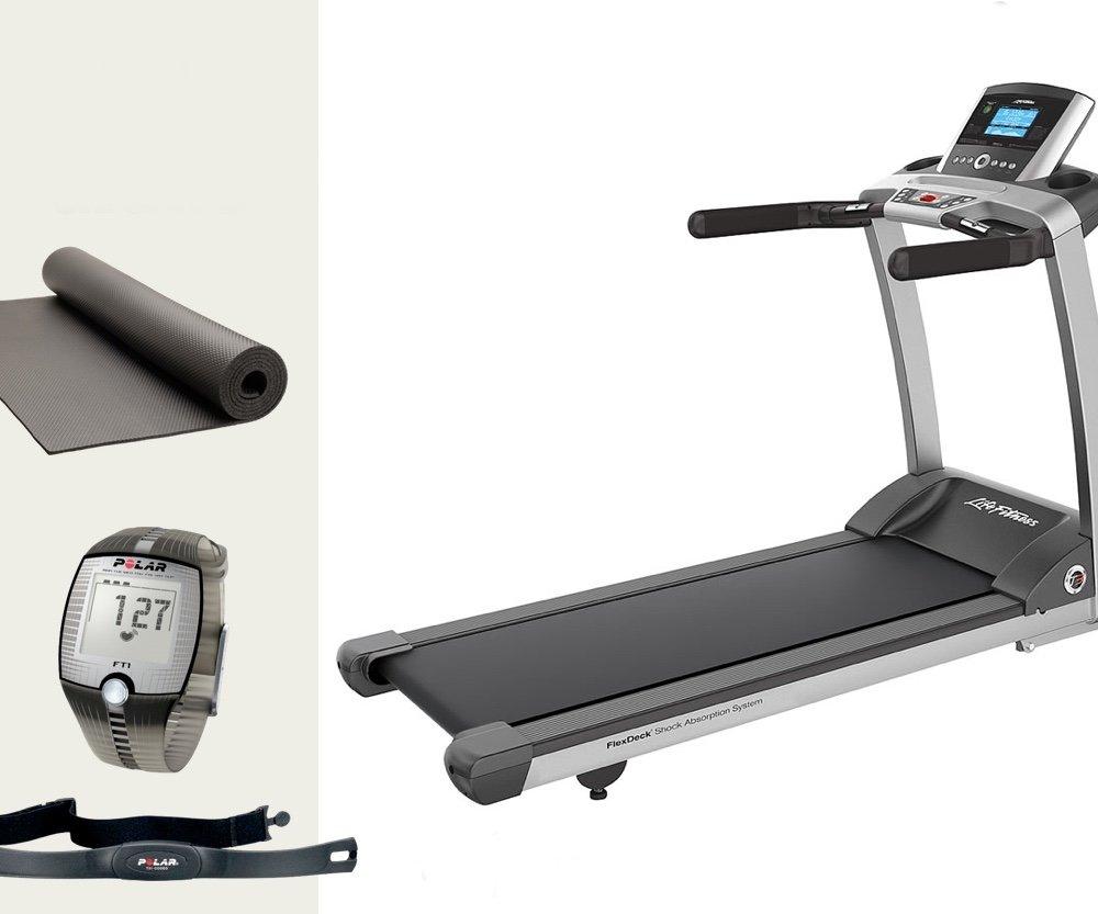 Life Fitness T3 Go - Modell 2017. Laufband inkl. Bodenmatte und Polar Brustgurt