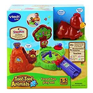 Vtech Baby Toot-Toot Animals Forest Fun Play Set, Includes One Toot-Toot Animal! (Dispatched From UK) (Colours May Vary)
