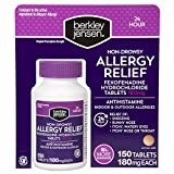 Berkley Jensen Non-Drowsy Allergy Relief Tablets, 150 ct. (pack of 2)