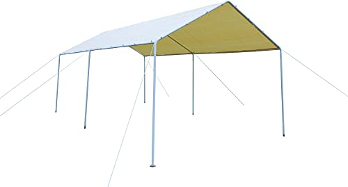 GOJOOASIS Carport Frame Tent Party Tent Heavy Duty Portable Car Garage Tent Outdoor Gazebo 10 x 20