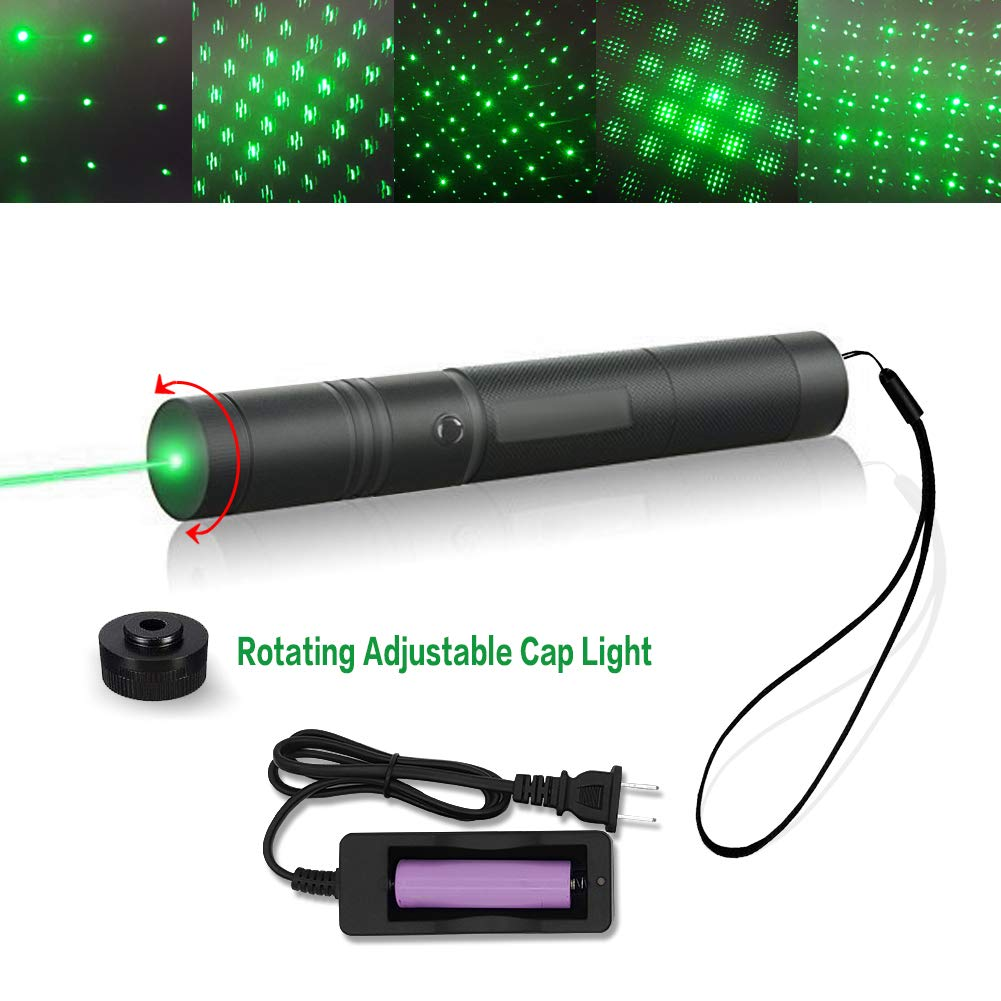 Tactical Green Hunting Rifle Scope Sight Laser Pen Demo Remote Pen Pointer Projector Travel Outdoor Flashlight LED Interactive Baton Funny Laser toy (Laser Pen)