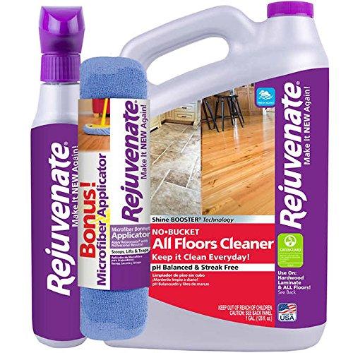 Rejuvenate Floor Cleaner 32 fl. oz. + 128 fl. oz. plus Bonus Applicator (Floor Slip Wax)