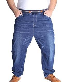 Abraxas Pantaloni jeans con elastico in vita blu scuro oversize