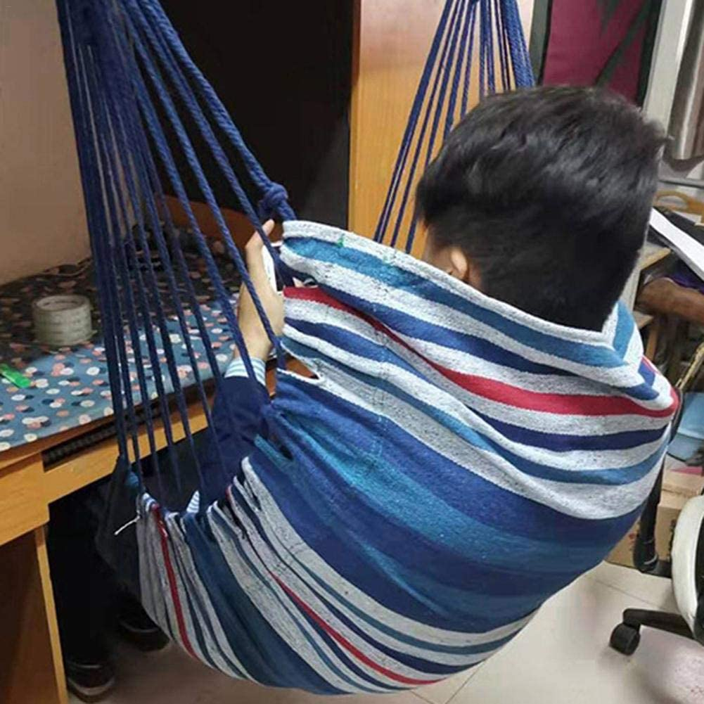 Swing Seat Hanging Hammock Chair with Pillow for Indoor Outdoor
