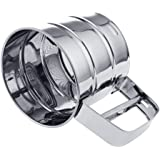 Stainless Steel 3 Cup Flour Sifter/ Sieve, Great for Sifting Flour,Confectioners Sugar, Cocoa Powder and Other Dry Ingredients By FYHAP