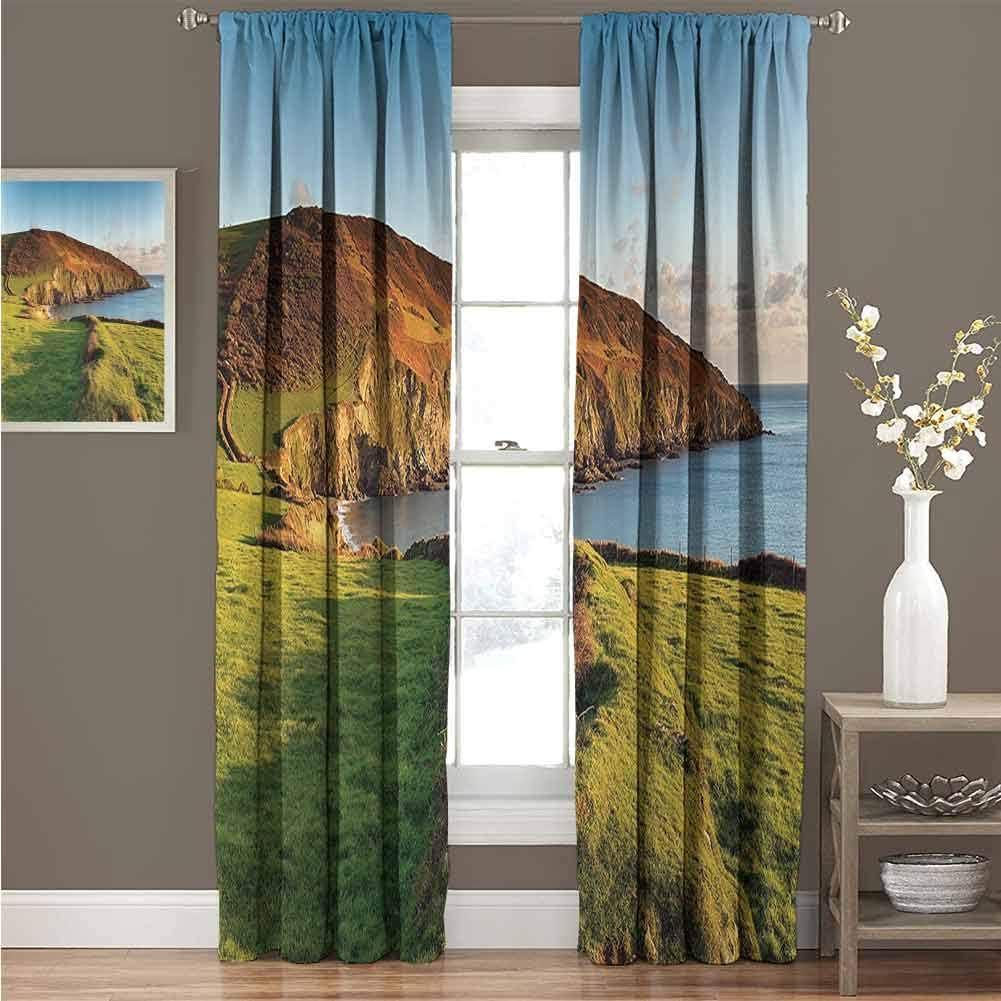 Sunnyhome Colección de decoración de Granja, Cortina de Puerta corredera, diseño Personalizado, Color Verde Dorado y marrón: Amazon.es: Hogar