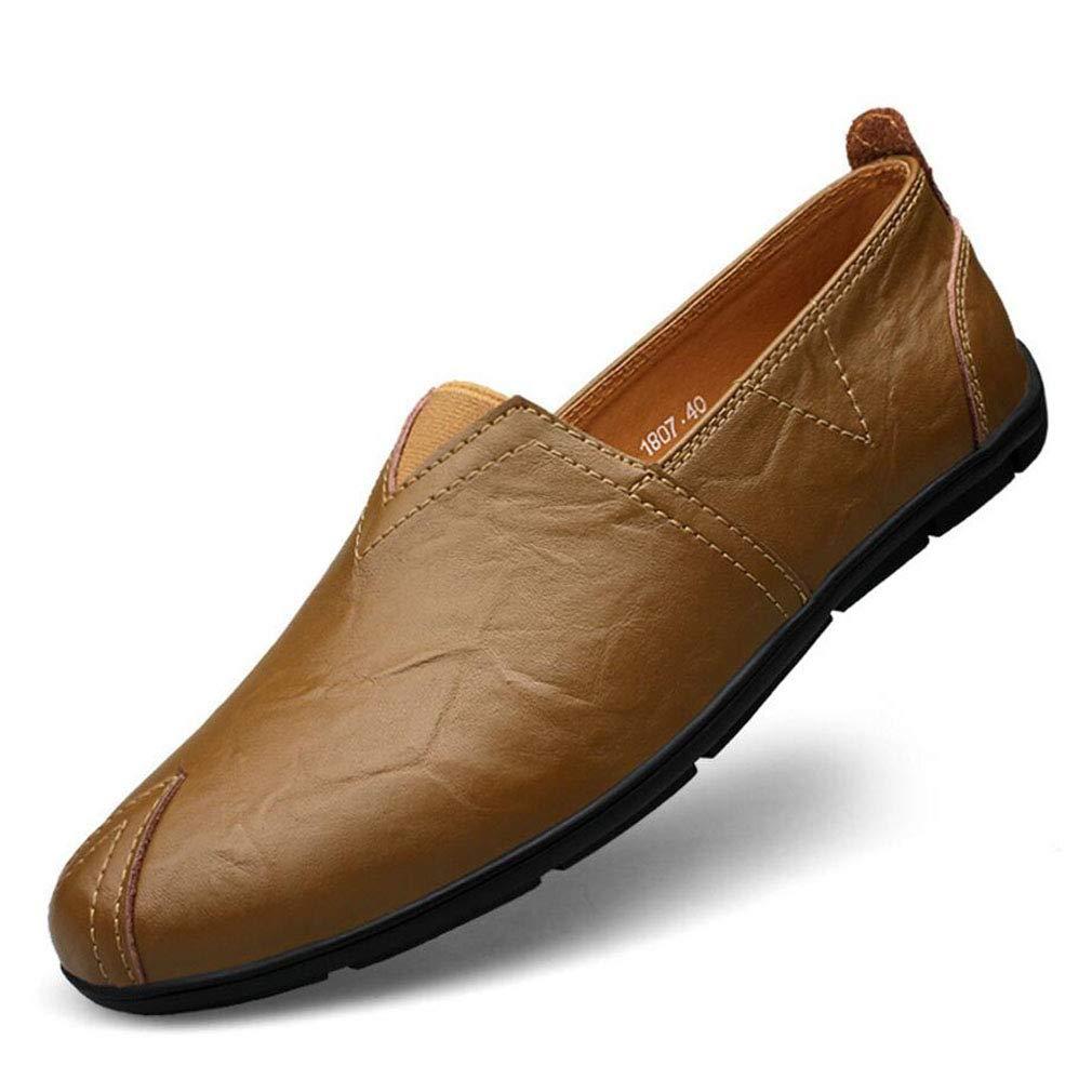 Zapatos de Hombre, Primavera/Otoño Zapatos de Conducción de Cuero Casuales Mocasines y Slip-Ons Amortiguación, Ventilación, Resistencia al Desgaste, Desodorización (YAN) 41 EU|Segundo