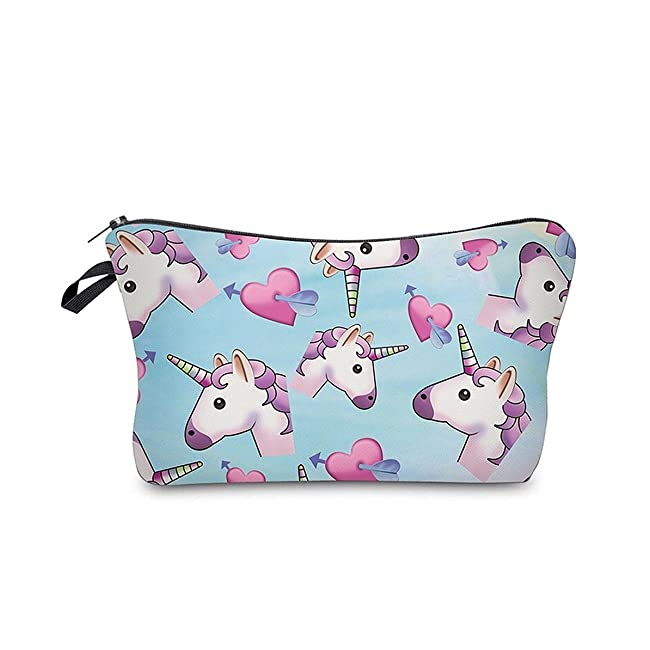 HENGSONG Unicorn Printed Makeup Brush Bag Key ...