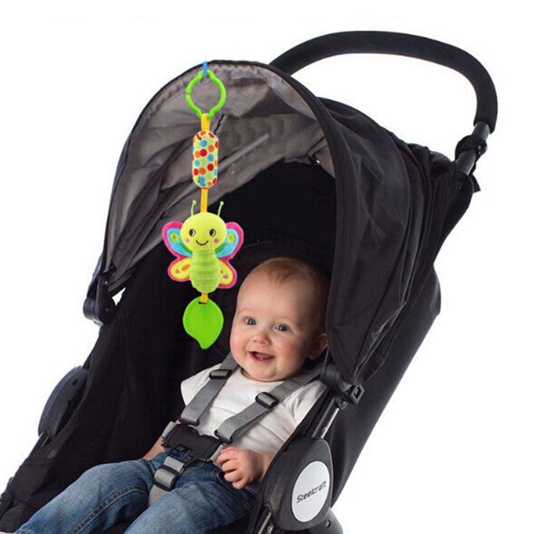Schmetterling HENGSONG Baby Spielzeug Kinderwagenkette H/ängende Stoff Spielzeug f/ür Bettchen Kindersitz und Kinderwagen