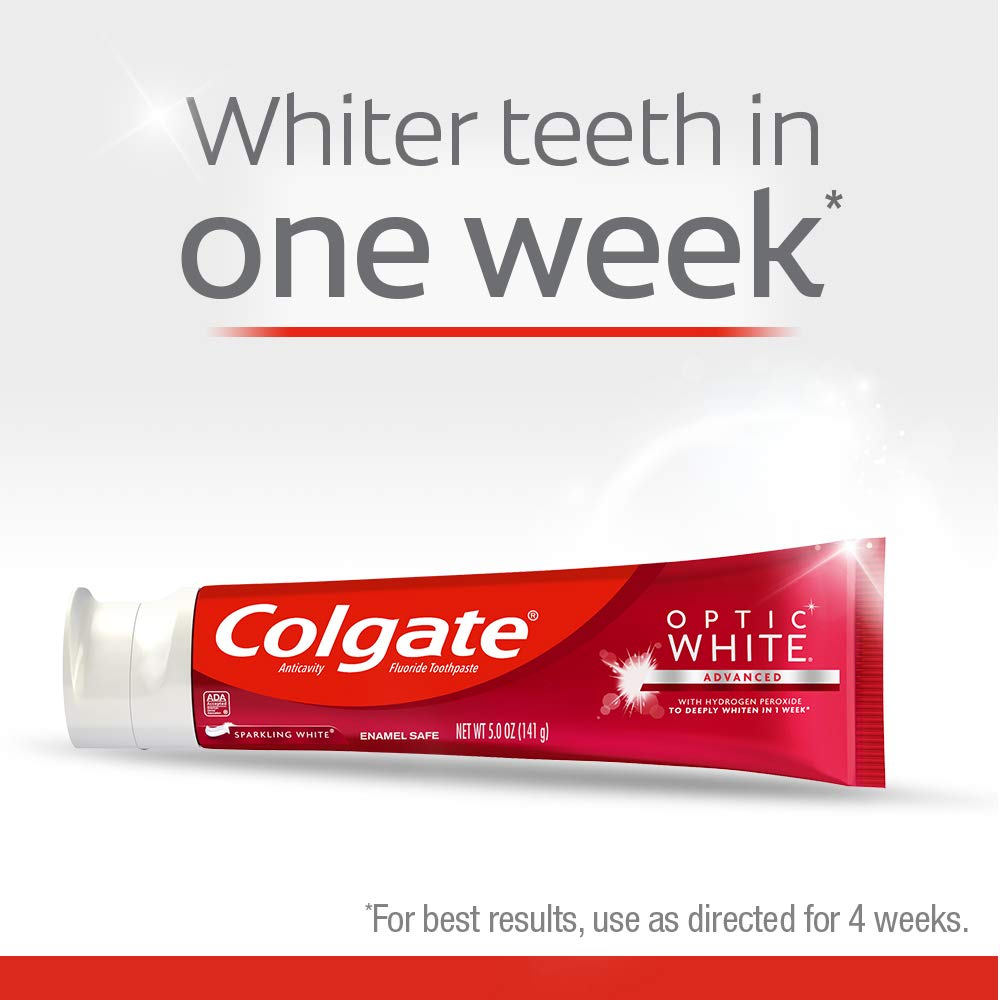 Colgate Optic White Whitening Toothpaste Sparkling White  5 ounce 3 Pack