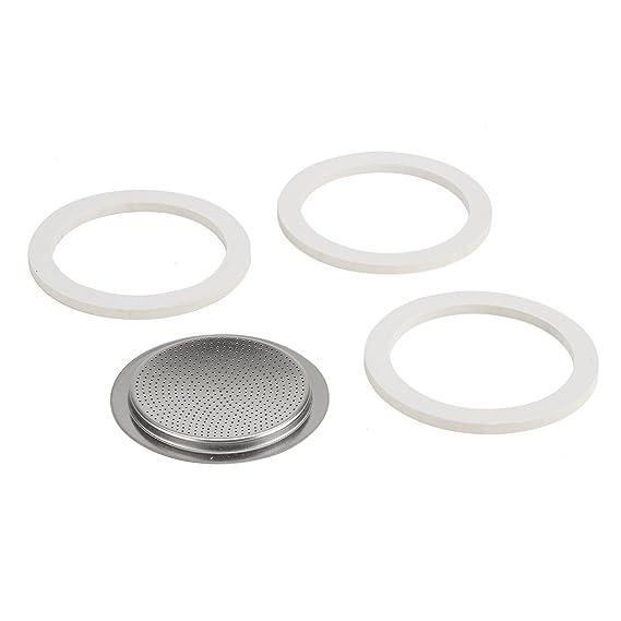 Bialetti Junta de goma y recambio de filtro 6T para cafeteras express (acero inoxidable): Amazon.es: Hogar