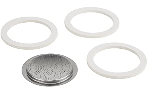 Bialetti Stainless Steel Gasket Filter Plate Replacement Parts, 6-Cup Venus, Musa, Kitty