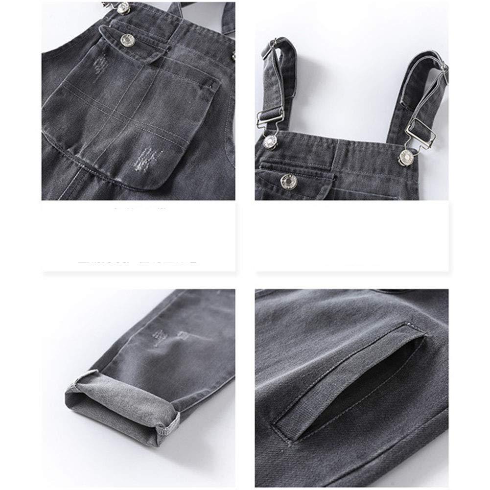Runyue Girls Skinny Denim Dungarees Jeans Bib Overalls Jumpsuits