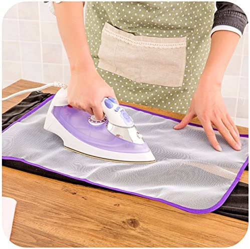 SIRIGOGO Protective Ironing Scorch Mesh Cloth Cover Mat for Ironing Board Pressing Pad, Protective Mesh NET IRONING CLOTH-Protects Clothing Iron Delicate Garments, Clothes