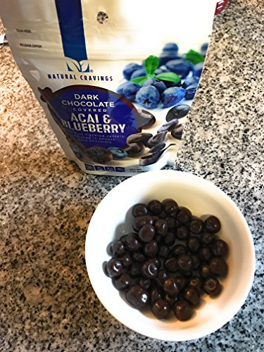 Chocolate Covered Blueberries and Acai Berries (2 Packs) - Two 7 oz Packages of Delicious Dark Chocolate Covered Blueberry and Acai Berries - GREAT VALUE! by Natural Cravings (Image #4)