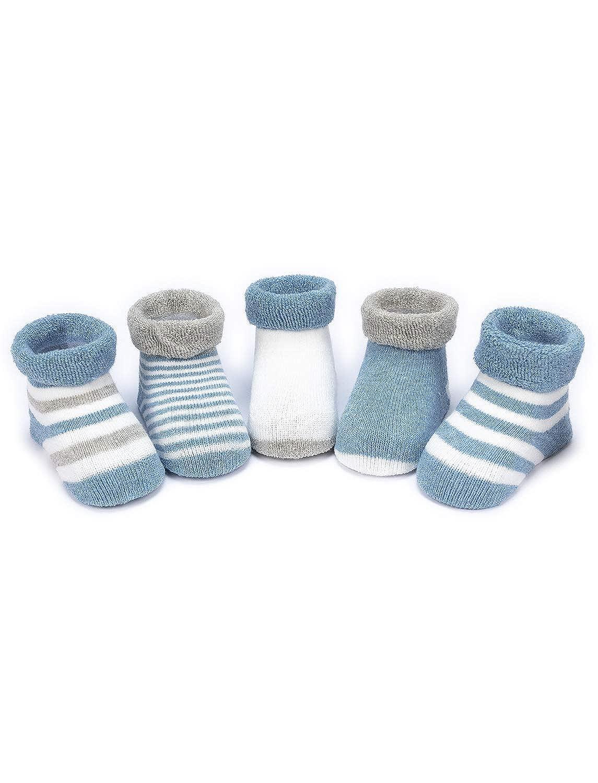 4c868c167 Adorel Pack de 5 pares de Calcetines Invierno para Bebés Niños 0 a 32 Meses