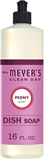product image for Mrs. Meyer's Clean Day Liquid Dish Soap, Cruelty Free Formula, Peony Scent, 16 oz