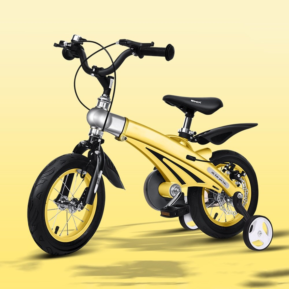 HAIZHEN マウンテンバイク 子供の自転車男の子の女の子の自転車12/14/16インチ乳母車マウンテンバイク子供の自転車拡張長マグネシウム合金 新生児 B07C42W493 12 inch|イエロー いえろ゜ イエロー いえろ゜ 12 inch