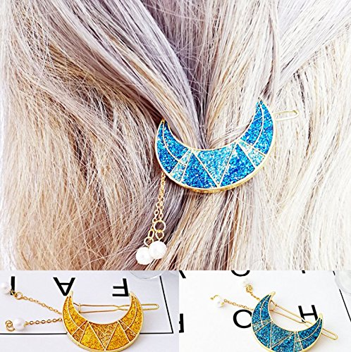 Custom [] Aladdin exotic Symphony tassel pearl crescent moon hairpin top folder special for women girl lady