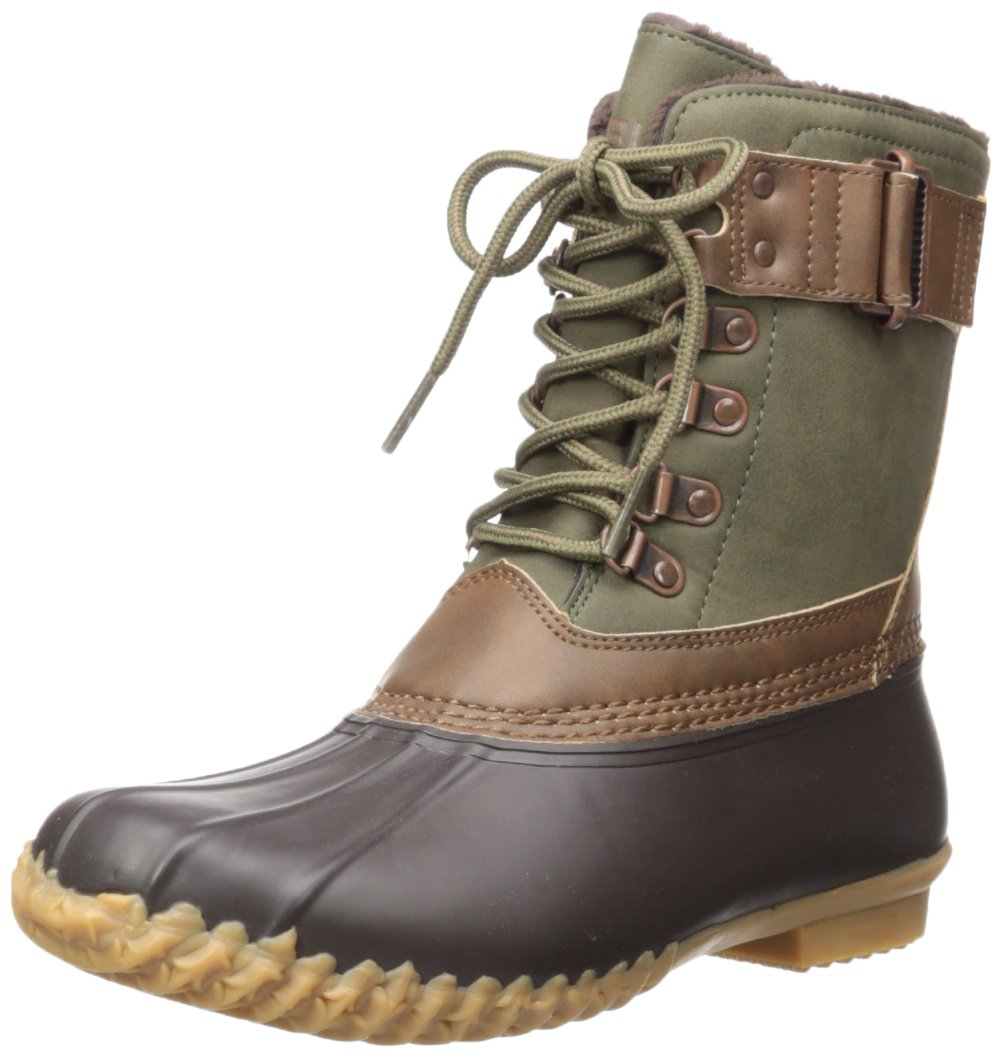 JBU by Jambu Women's Quebec Weather Ready Rain Boot B01NA0JYXB 7.5 B(M) US|Army Green/Brown