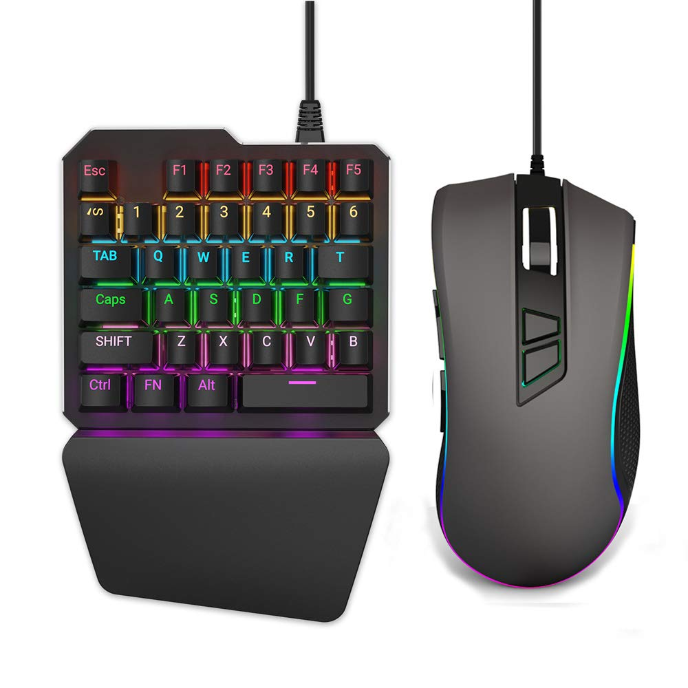 Delta essentials Keyboard and Mouse Combo Built-in Adapter for Nintendo Switch/PS4/Xbox One Compatible with Fortnite Apex Legends