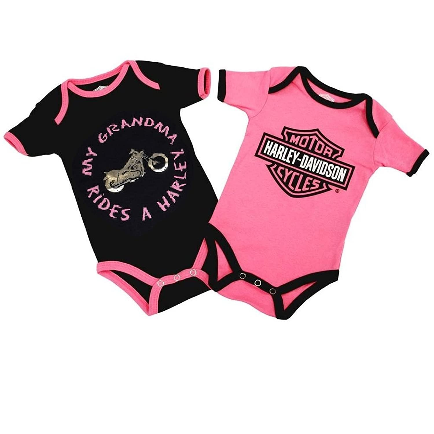 Amazon Harley Davidson Baby Girls Creeper Set Infant Grandma