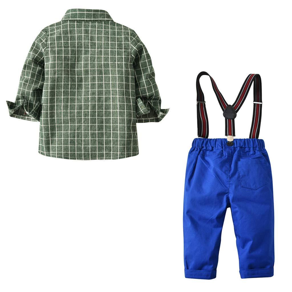 YYCLOTH Niño Niño Use Agua Rejilla verde Camisa de manga larga ...