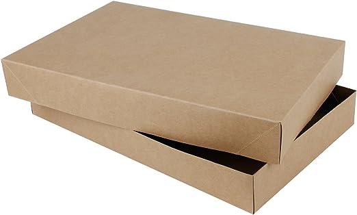 RUSPEPA 38.5 X 24.5 X 5.1Cm Camisa Caja De Regalo De Cartón Con Tapas, Cajas De Regalo Decorativas A Granel Para La Ropa, 10 Paquete Completo (Brown Kraft): Amazon.es: Hogar