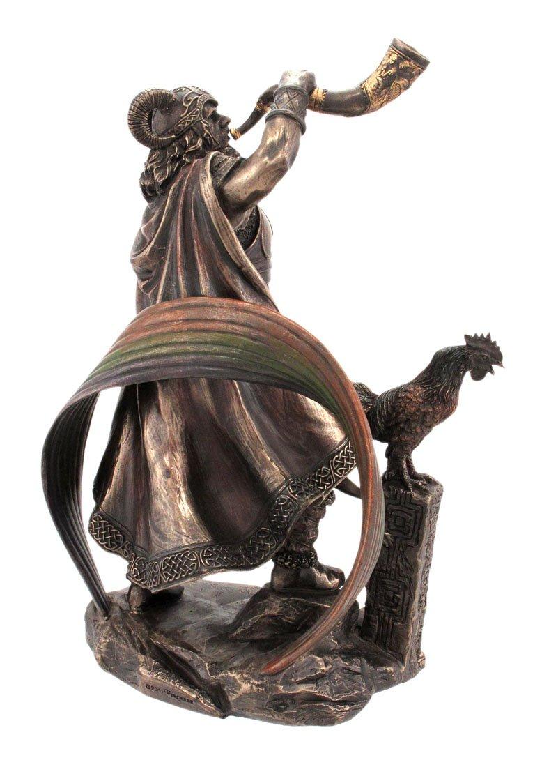Veronese 9 1 2 Inch Norse God Heimdall Bronzed Finish Statue Pagan