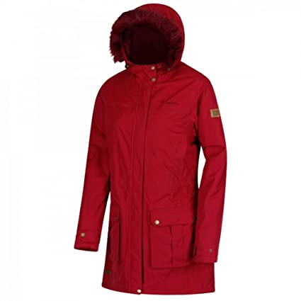 2c8cf8693e9 Regatta Women's Sherlyn Waterproof and Thermoguard Insulated Faux Fur Hooded  Jacket: Amazon.co.uk: Clothing