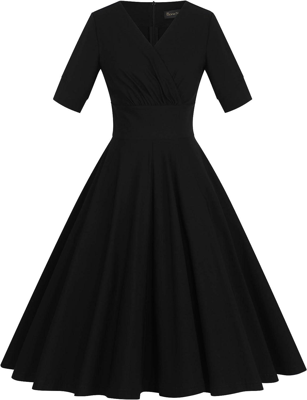 1950s Party Dresses & Prom Dresses for Sale GownTown Womens 1950s Retro Vintage Wrap Party Swing Dress $32.99 AT vintagedancer.com