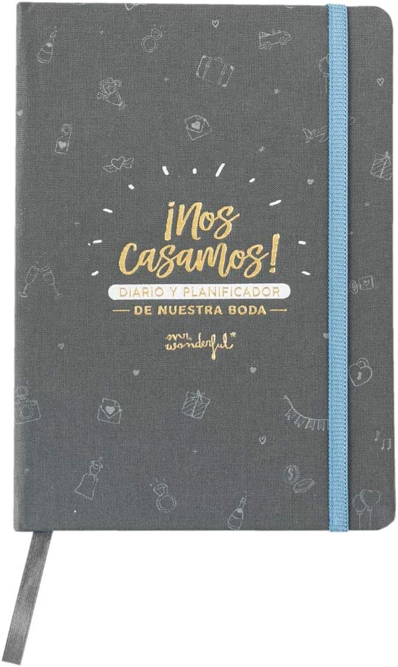 Mr. Wonderful WOA10350ES Diario y Planificador de Nuestra Boda