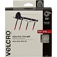 VELCRO Brand Fuerza Industrial - Uso interior y exterior, Tamaño 3m x 5cm, Blanco - Paquete de 1