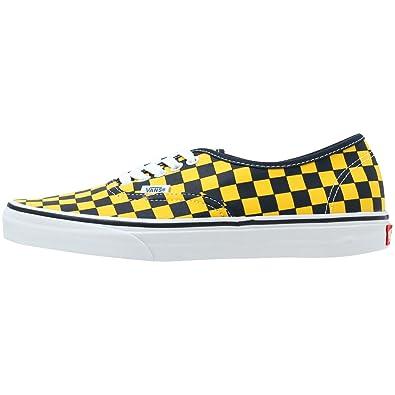 1941a6288d Vans Mens Authentic Dress Blue Yellow Checker Low top Trainers 9 ...