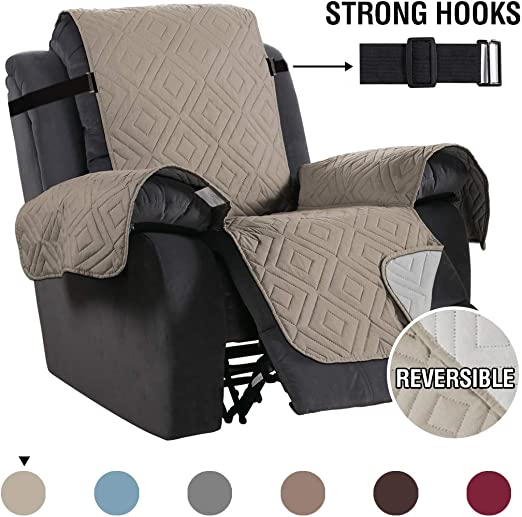H.Versailtex Waterproof Recliner Chair Covers for Armchairs Recliner Covers Reclining Chair Covers Protect from PetsDogs, Soft Quilted and Non Slip