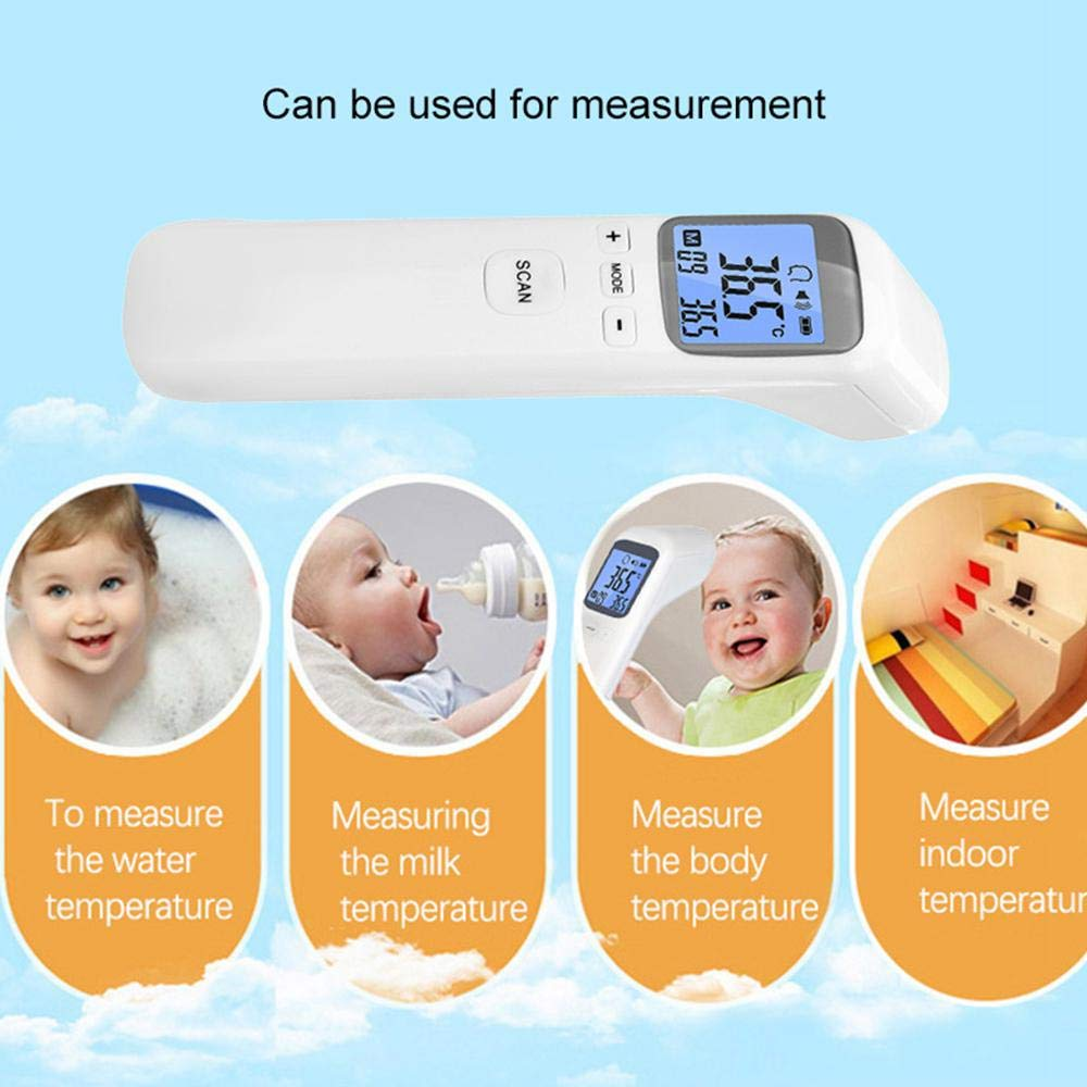 Fever Warning /& Instant Reading Digital Infrared for Baby Adult Child CE Approved Volwco Handheld Non-contact Digital LCD Infrared Temperature Thermometer