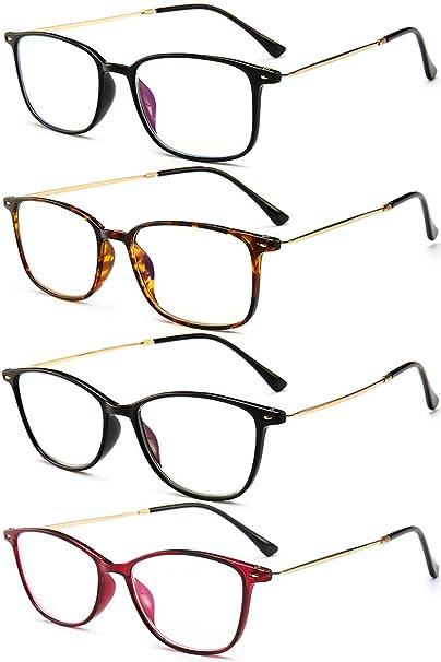 6cb3b1d9f7 VEVESMUNDO Gafas de Lectura Mujer Hombre Anti Luz Azul Proteccion Ordenador  Leer Graduadas Vista Presbicia 1.0