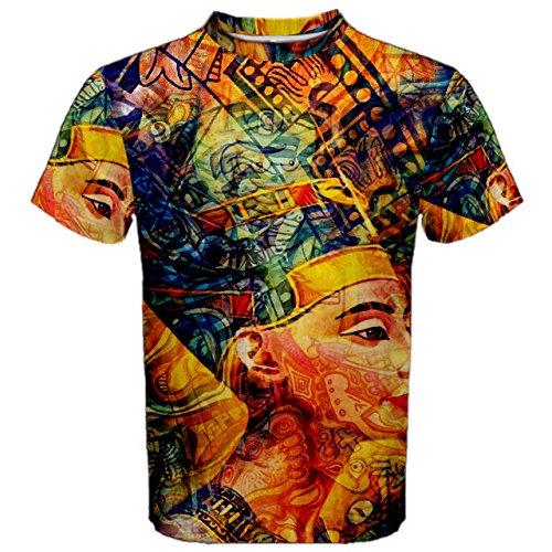fcd9ffd7 Ancient Egypt Pharaoh Code Trippy Hippie Psychedelic Full 3D Sublimation  Men T-Shirt Full 3D Custom Print T shirt Tees #003