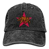 LETI LISW Bear Flag of CaliforniaFashionDenim Cap Adult Unisex Adjustable Hat