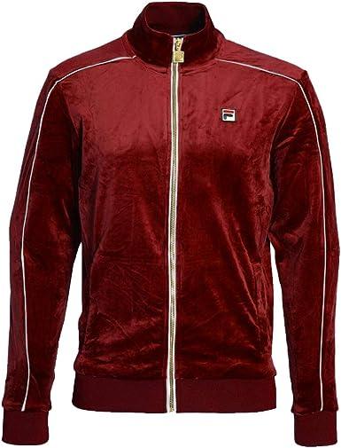 Fila Vintage Lineker Velour Track Jacket RedWhite Medium