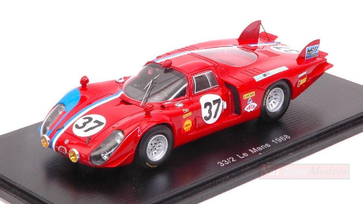 bajo precio SPARK MODEL S4369 ALFA ROMEO T33/2 N.37 DNF LM LM LM 1968 T.PILETTE-R.SLOTEMAKER 1:43  el mejor servicio post-venta