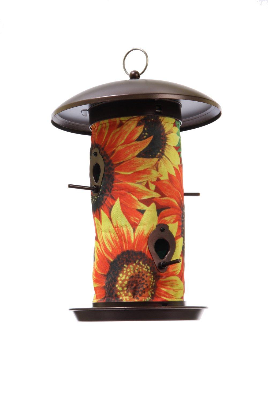 Toland Home Garden Sunflower Medley 14.5 x 9.5-Inch Decorative 4-Port Hanging Art Wild Bird Seed Feeder 202047