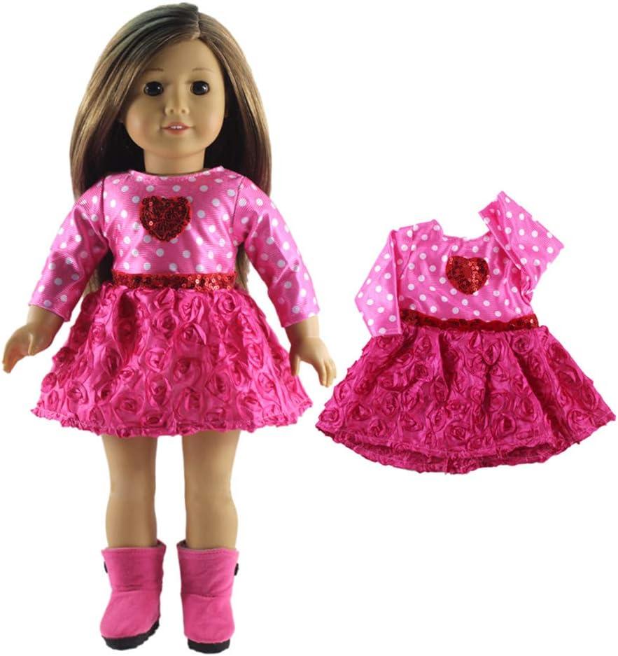 Lance Home V/êtements de poup/ées 5 Vetements Mode Costumes Tenues pour Poup/ée 18 Pouces Poup/ée b/éb/é 45cm-46cm American Girl Madame Alexander Our Generation Dolls Clothes V/êtements Cadeau No/ël