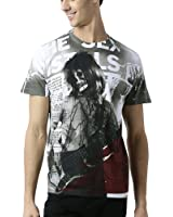 Huetrap Men's Skull Rock Music T Shirt